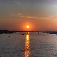 Закат над Обью. :: cfysx