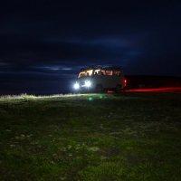 Бермамыт ночью. Высота 2500 м. Возвращение домой после захода солнца. :: Vladimir 070549