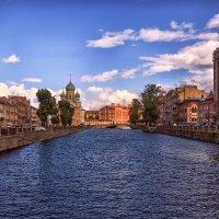 Канал Грибоедова. Вид с Аларчина в сторону Могилевского моста. :: Валентин Яруллин