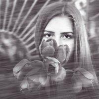 Тюльпановый взгляд (ЧБ) :: Мили Кант