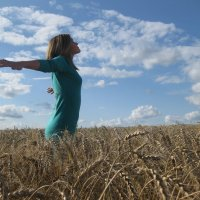 На фоне неба и пшеницы :: Маринка Аркатова