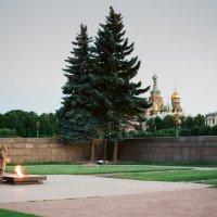 Вечный огонь \\\\ Спас-на-Крови (пленочное фото) :: Евгений Дмитриев