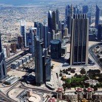 Вид на Дубай с 124 этажа башни Бурж Халифа :: надежда корсукова