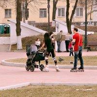 Дама с коляской. :: Сергей Исаенко