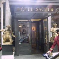 У отеля Sacher, Вена (из старых фотографий) :: Юрий Поляков