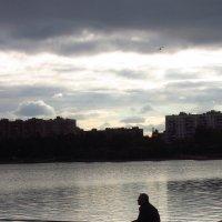 Рыбак на вечерней зорьке :: Андрей Лукьянов