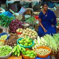На базаре в Индии :: Алла