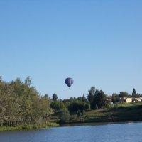 Монгольфьер над посёлком Сархор :: greenveron