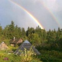 РАДУГА   Вид из окна :: Виктор Елисеев