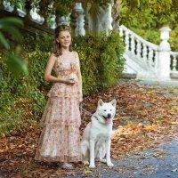 Прогулка с собачкой. :: Оксана Зарубина