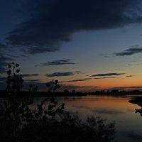 Август.Закат на Бие. :: Владимир Михайлович Дадочкин