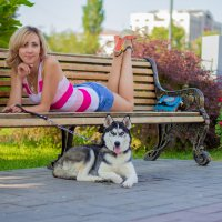 Прогулка с Хаски :: Анютка Токарева