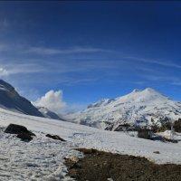 Эльбрус и Чегет панорама 9 05 2015 :: Олег Петрушин