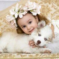 Девочка с собачкой! :: Светлана