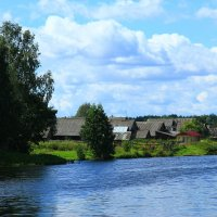 Пейзаж с озером :: Владимир Андреевич Ульянов
