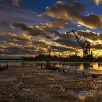 Закат над Кронштадтом :: Константин