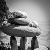 морское спокойствие чб :: Лилия Левицкая