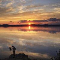 Закат с фотографом :: Сергей Адигамов