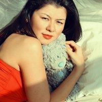 Дина и мишка) :: Елизавета Конова