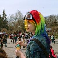 Гвоздь праздника  мыльных пузырей :: Сергей Яценко