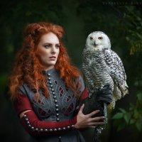 Девушка и сова :: Ярослава Бакуняева