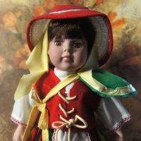Кукла в национальном костюме жительницы острова Тенерифе (Канарские острова) :: Елена Павлова (Смолова)
