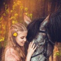 Прогулка с лошадьми :: Анна Коняхина