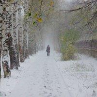 Первый снег в городе :: Исаков Александр