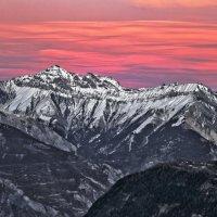 Зимний вечер в Альпах :: Alexandr Zykov