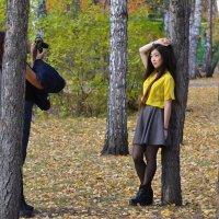 Из-за дерева. :: cfysx