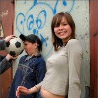 Девочка и Мяч :: Андрей Пашис