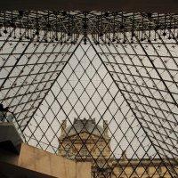 Стеклянная пирамида Лувра во дворе Наполеона :: Вадим Лячиков