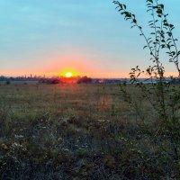 Осенний закат. :: Юрий Стародубцев