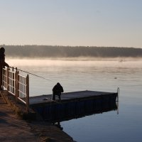 рассвет на реке :: linnud