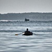 К концу рыбалки, рыбак рыбака уже не видит издалека. :: Олег Линкин