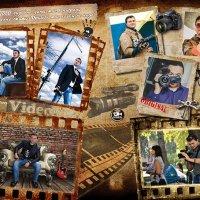 """Разворот мужского фотожурнала в стиле гранж """"Моё хобби - фото и видео"""" :: Oleg Goman"""