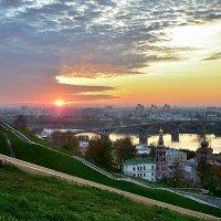 Панорама Нижнего Новгорода с видом на Канавинский мост через Оку :: Денис Кораблёв