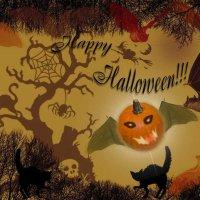 """Открытка """"Happy Halloween!!!"""" и краткое описание праздника :: Наталья (ShadeNataly) Мельник"""