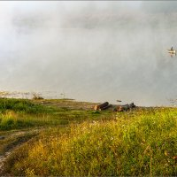 Утро, рыбалка, туман... :: Александр Никитинский