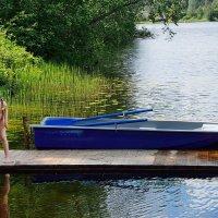Девочка и озеро. :: kolin