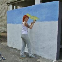 Оформление подъездов.Юная художница :: Лидия (naum.lidiya)