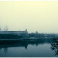 Река Великая. Туман. Псков. :: Fededuard Винтанюк