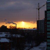 зимний рассвет :: Алёна Мосеенкова