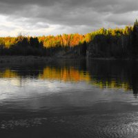 закат у реки :: Елена Князева