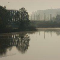 Железная дорога над каналом, маршрут Рига - Сигулда - Валга :: Ольга Захаренко