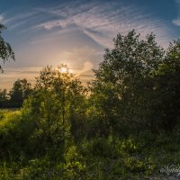 Персиком нежным закат договрает :: Наталья Лакомова