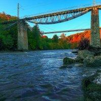 Мост в каньоне реки Белая. :: Бронислав Богачевский