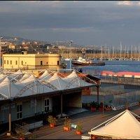 Вечером в порту Катаньи. :: Leonid Korenfeld