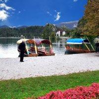 Траспорт для монастыря на острове озера Блед :: Евгений Дубинский