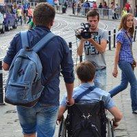 «Снимается сюжет о людях с ограниченными возможностями» :: Aleks Nikon.ua
